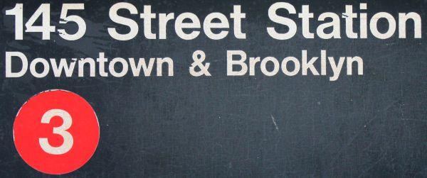 145th Street 3 subway stop