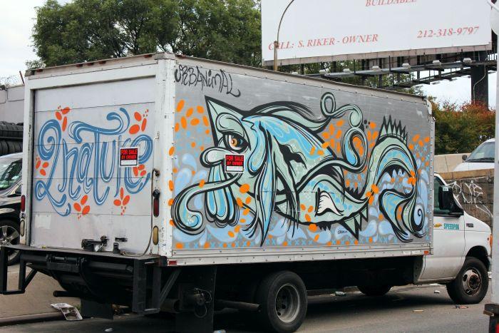 Graffiti truck, street art, Urbanimal, Mott Haven, The Bronx, New York City. www.thenextstoponthistrain.com